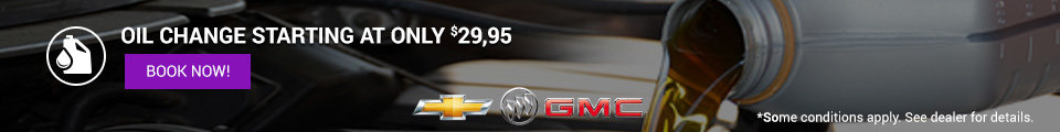 Banner oil change GM $29.95