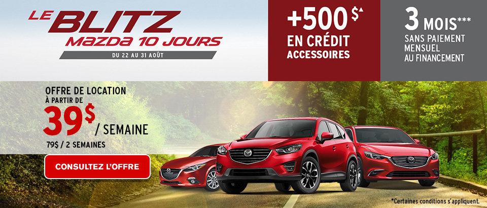 Le blitz Mazda 10 jours