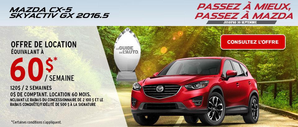 Passez à mieux, passez à Mazda CX5