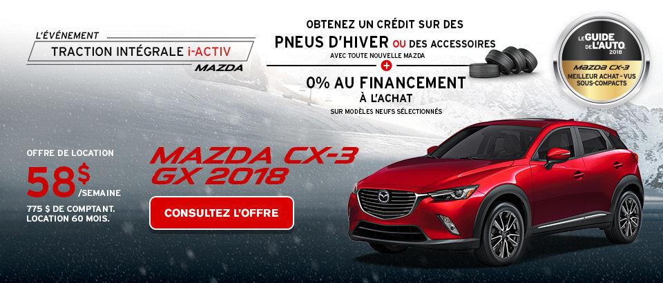 Louez une Mazda CX-3 GX 2018