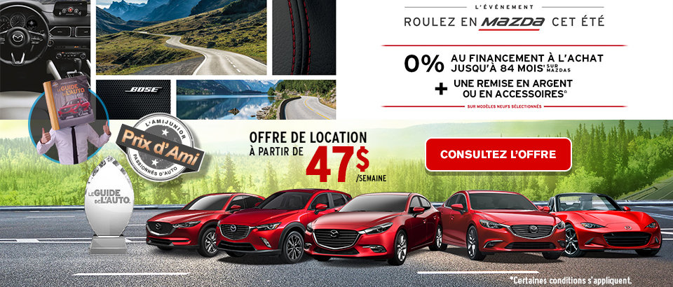 Événement Ventes Mazda Juillet