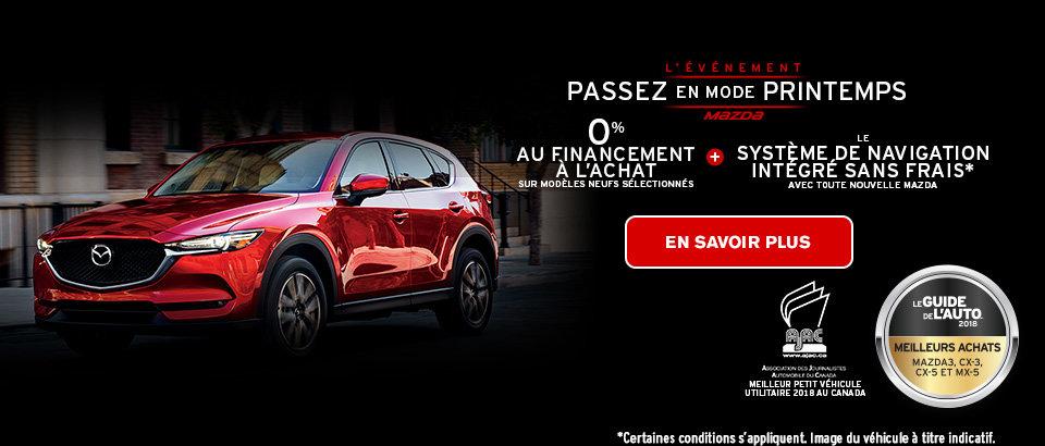 L'événement Passez en mode printemps de Mazda