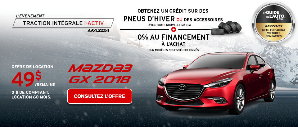 Louez la Mazda3 GX 2018