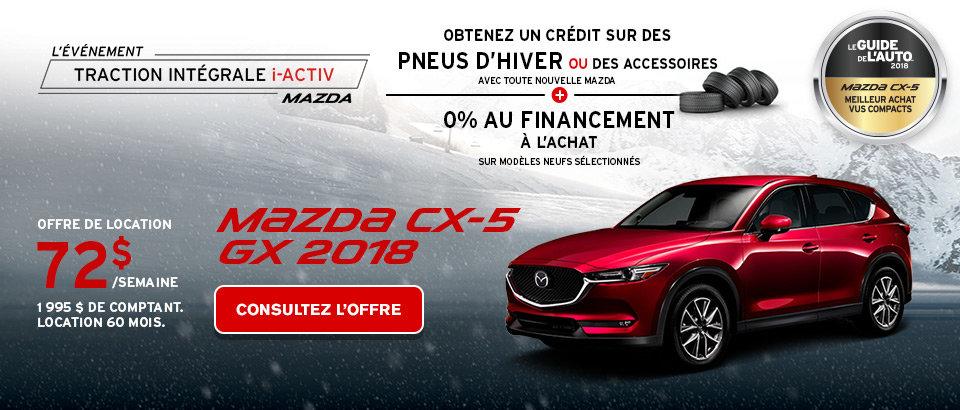 Louez une CX-5 GX 2018